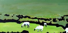 paint irish, sheep, paintings, irish landscap, irish kc