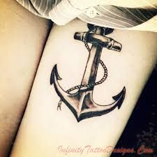 anchor tattoo. Really LIke this design. Not the placement or size but I like the detail