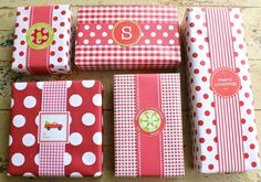 Christmas gift wrap ideas and beautiful labels!