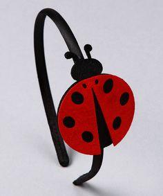 Felt Ladybug Headband ladybug headband, coletero