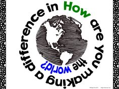 How are you making a difference in... the world?  Creative Question of the Day Free Sampler