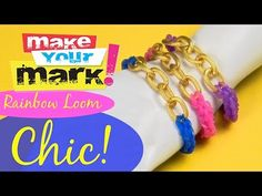 Rainbow Loom High Fashion Chain Bracelets DIY