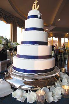 Nautical themed wedding cake