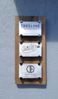 New signage for Cactus Gallery, Treeline Woodworks, Dara Ettinger. 3001 North Coolidge Avenue, Los Angeles, CA 90039