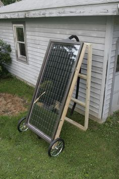 Soda can solar heater.  He recorded a 120° differential between input and output!