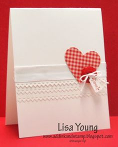 Stampin' Up!  Tiny Tags  Lisa Young  Valentine