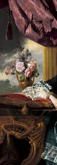 "a-l-ancien-regime:    Johan Zoffany, ""Queen Charlotte,"" 1771, detail"