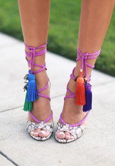 Tassel heels / jimmy choo
