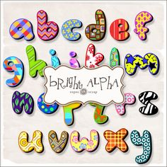 Freebies Bright Alphabet