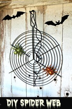 spider web diy upcycle, Petticoat Junktion #halloween