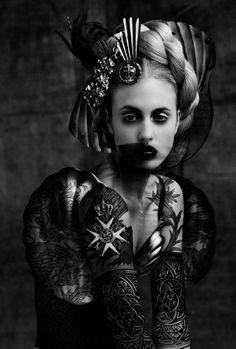 gothic woman, black detail