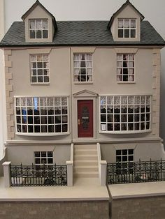 Another great brownstone. dollhous, doll hous, miniature houses