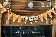 This Casita - DIY Candy Corn Burlap Banner