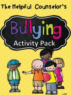 Bullying Prevention Activity Pack:  -Make Your Own Bully Dice -Bookmarks -Coloring Pages -Posters $