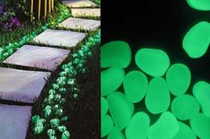 $15 for 100 Glow in the Dark Pebbles - Shipping Included
