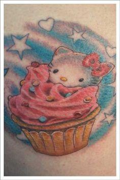 Hello Kitty cupcake.