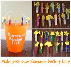 Make your Own Summer Bucket List- Plus 50 great summer activities to include on this list!