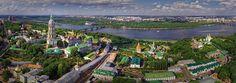 Kiev. Ses cathédrales et les monastères • 360 ° Panorama aérien !