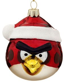 This is perfect for all those Angry Birds addicts you know!  From www.christmasornaments.com, this ornament is handcrafted and handpainted to look just like the bird does in the game.  It will liven up any Christmas tree this season!  Get it for only $15.50