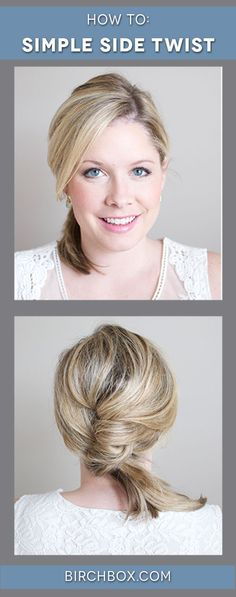 @k8smallthings is the queen of chic, quick styles for the busy girl! You will live in this simple side twist.