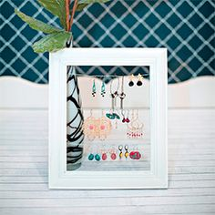 Super fun and easy made step by step Jewelry Frame Display.