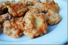 Homemade chicken nuggets.