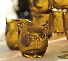 Owl Barware, Set of 4 #potterybarn