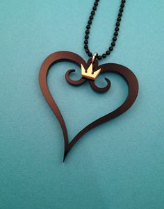 Kingdom Hearts Necklace by TheNerdCraft on Etsy, £6.99