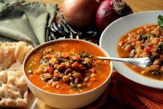 Lentil, Bean, and Kale Soup by glowkitchen #Soup #Lentil #Bean #Kale #Healthy