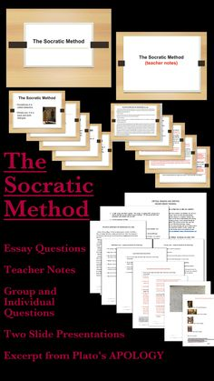 While many teachers use Socratic Circles or Seminars as a way to engage their students in higher order thinking skills, they do not teach the actual Socratic dialogues as they are difficult to teach to Middle School or High School students. This unit takes a small section of Plato's APOLOGY and makes it accessible to younger students. This is a self-contained unit on The Socratic Method. (GRADES 7+) CCSS are listed on product page - it covers a wide range. $