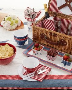 Fourth of July Picnic Basket
