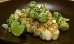 The Chew | Recipe | Daphne Oz's Grilled Halibut With Avocado Relish
