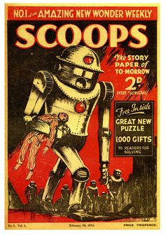Scoops, the Story Paper of To-Morrow (UK, 1937). Cover illustration: Serge Drigin