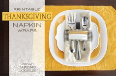 Printable Thanksgiving Napkin Wraps