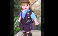 18 inch Doll Scout Uniforms. Fits American Girl Dolls