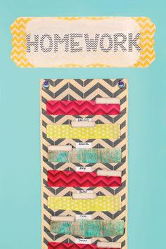 Keep track of the days assignments are due with this stylish wall piece.