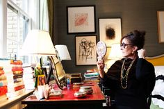 Kate Spade in her home