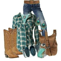 country girl style, concert outfits, western outfits, girl outfits, country girls, fall outfits, plaid shirts, countri girl, country outfits