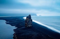 Volcanic sandy beach of Iceland.