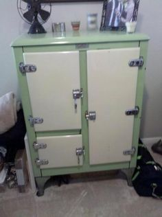 Antique Ice Box- Crystal Refridgerator Company