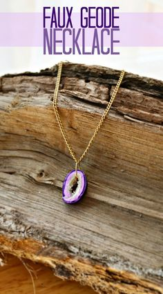Faux Geode Necklace Polymer Clay Tutorial - this looks so real and it's easy to make too!