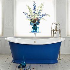 blue tub, for the beach house!!!