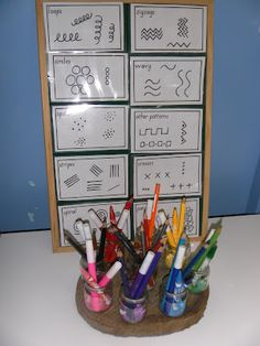 Pattern cards to engage mark makers