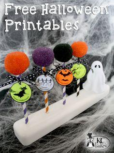 Halloween Cake Pops + FREE Printables >>> KC Bakes