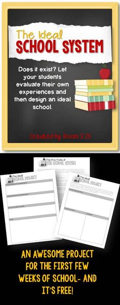 A Free Back To School Lesson Plan:  Have your students discuss and design an ideal school system.