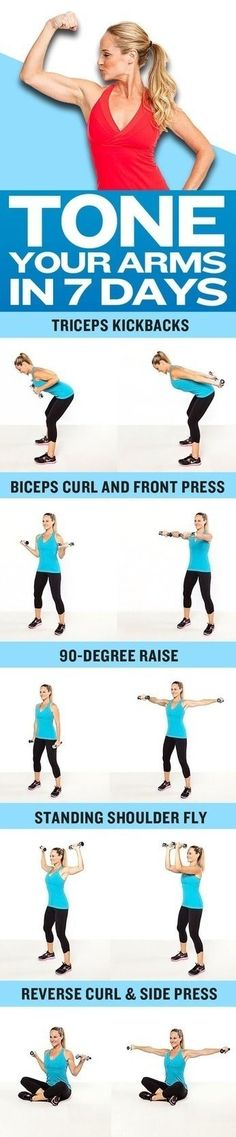 Arm toning excercise. Click here for help losing weight! http://www.fitnessin24.com