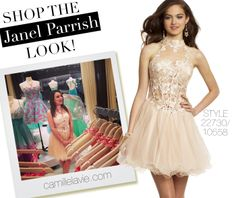 Camille La Vie Lace Party Prom Dress worn by Janel Parrish from Pretty Little Liars