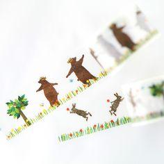 Dancing Bunny + Bear Washi Tape
