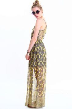 Tribal Cutout Maxi Dress - $60