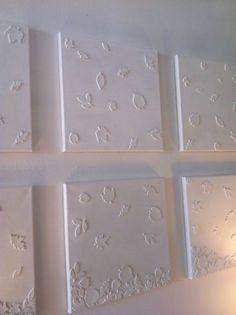 Foamstickers op canvas plakken en vervolgens schilderen